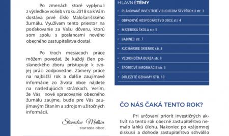 Malošarišský obecný žurnál 1/2019